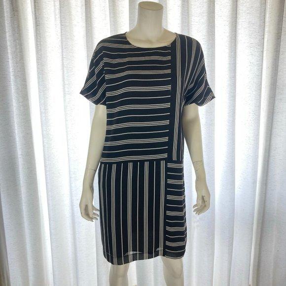 NEW DKNY Striped Dress Small